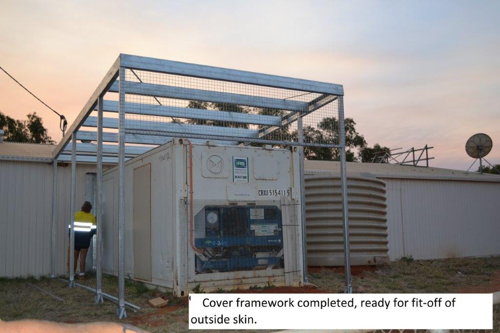 7 building cover for exposed refrigiration container
