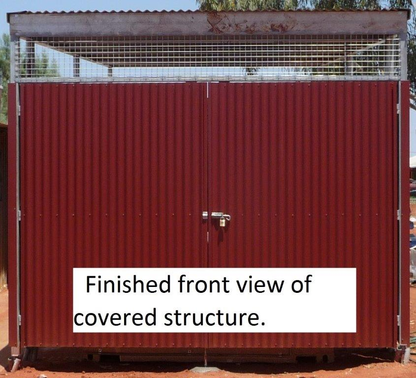11 Container freezer unit protected from sun and damage