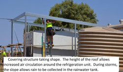 5 building cover for exposed refrigiration container