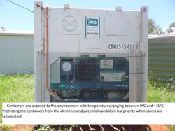 2 Stand alone Freezer Units exposed to sun