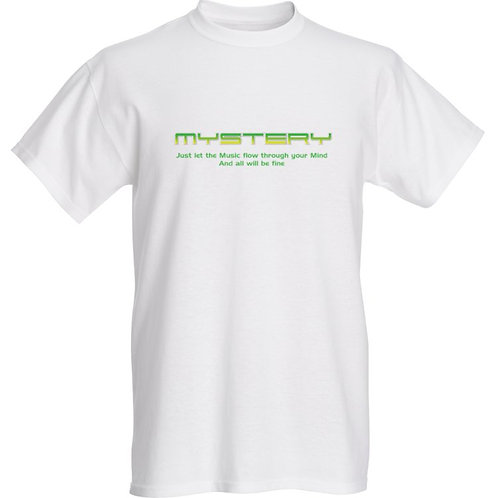 MYSTERY-Let the Music White Tshirt