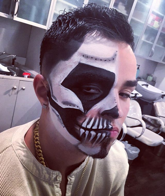 more halloween skull action #makeupbyvic