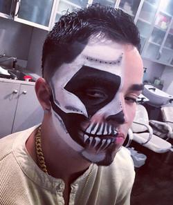 more halloween skull action #makeupbyvic