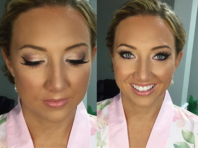 Bright & Glowy Bridal - Makeup By Vic 💄✨ #makeupbyvic #bridesmaidmakeup #bridalparty #glamlife #smo