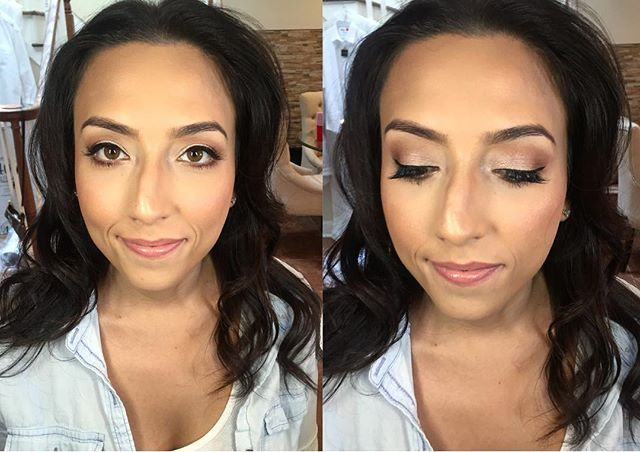 need to post more client pics! wedding glam- shimmery neutral eyes, full coverage foundation, indivi