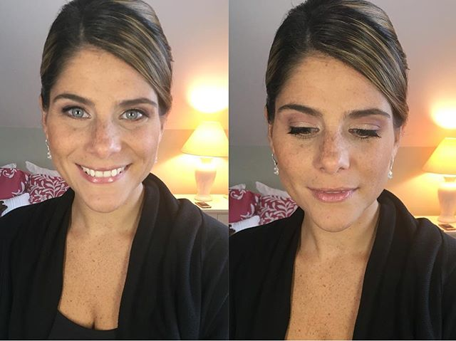 Soft & Natural bridesmaid makeup from last weeks wedding glam session! She wanted her freckles to sh