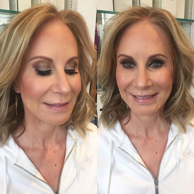 No Filters Necessary- Full Face Glam on this Sweetheart with a Bronzy Eye #makeupbyvic #motd