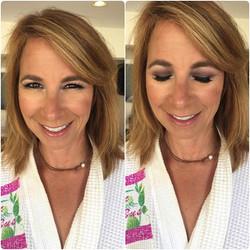 Glam on _mrsjillzarin today- #makeupbyvic #gopriv _gopriv