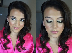 Flawless bridesmaid from this mornings 6am wedding glam session! #makeupbyvic #bridesmaid #weddinggl