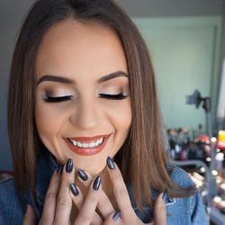 my little happy glam girl 🖤#makeupbyvic
