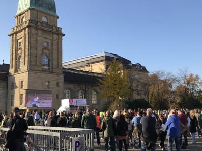 """""""Globales Konzentrationslager"""": Radikale Thesen auf Querdenken-Demo in Darmstadt am 31.10.2020"""