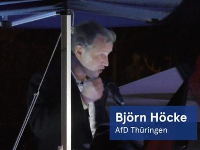 """Kundgebung von """"Zukunft Heimat"""" mit Alexander Gauland und Björn Höcke am 30. Oktober 2020 in Cottbus"""
