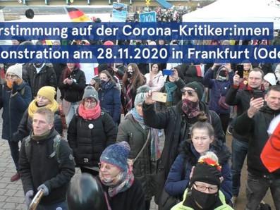 28.11.2020: Feierstimmung auf deutsch-polnischer Anti-Coronakundgebung in Frankfurt (Oder)