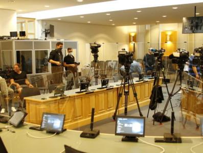Pressekonferenz zum Prozessauftakt zum antisemitischen Attentat in Halle vom 9. Oktober 2019