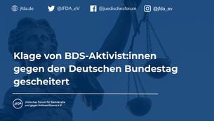 Klage von BDS-Aktivist:innen gegen den Deutschen Bundestag gescheitert