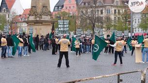 Antisemitismus am 1. Mai 2021 in Erfurt