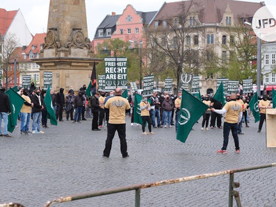 Antisemitismus am 1. Mai 2021 in Erfurt