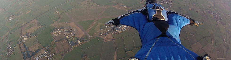 free skydiving above farm land