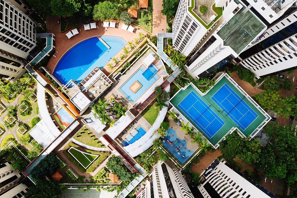 Apartment Complex Bird-View