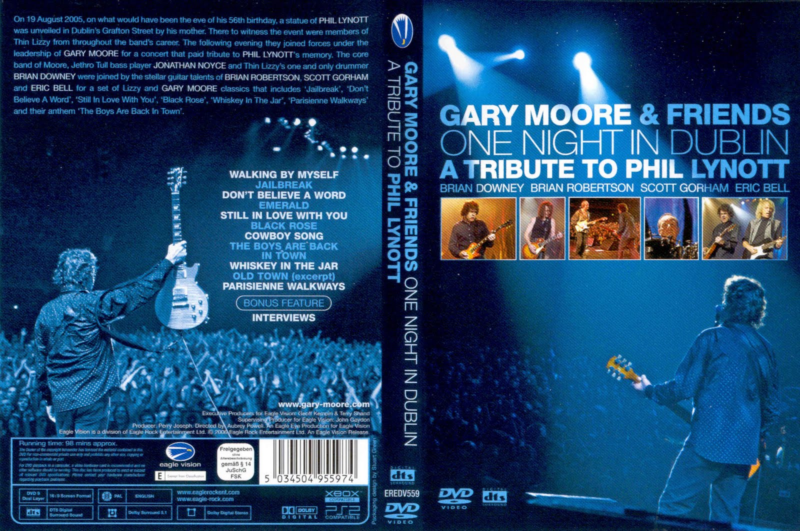 Gary Moore & Friends - One Night In Dublin A TributeTo Phil Lynott - Cover