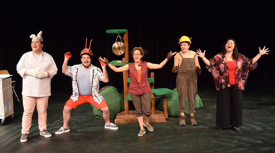 """The cast of """"Bobtail BONG BONG"""" on stage at the MC Cultural Arts Center. 2019"""
