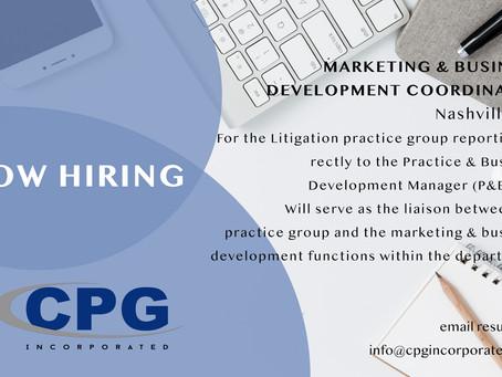 Marketing & Business Development Coordinator Litigation