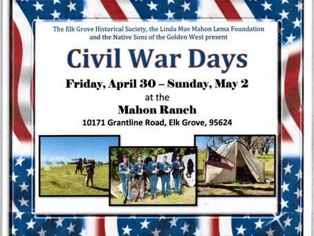 Civil War Days at the Mahon Ranch