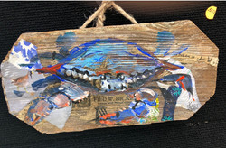 Blue Crab on Wood