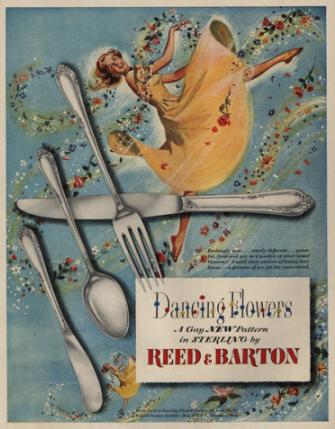 戦争が終わりスターリングシルバーの食器の製造を再開した