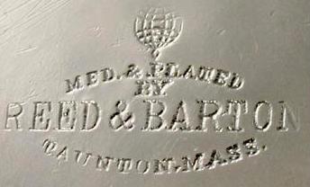 Reed&bartonのシルバー製品に刻まれるロゴ