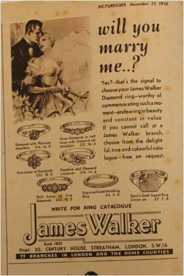 男性から女性へ送る結婚指輪の広告