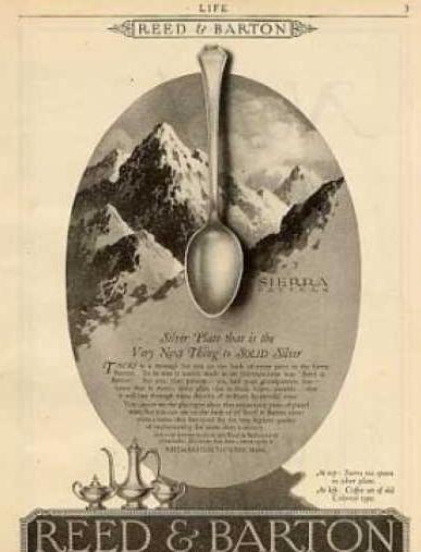リードアンドバトンの1920年代の広告