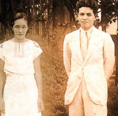 若き日の白洲夫妻