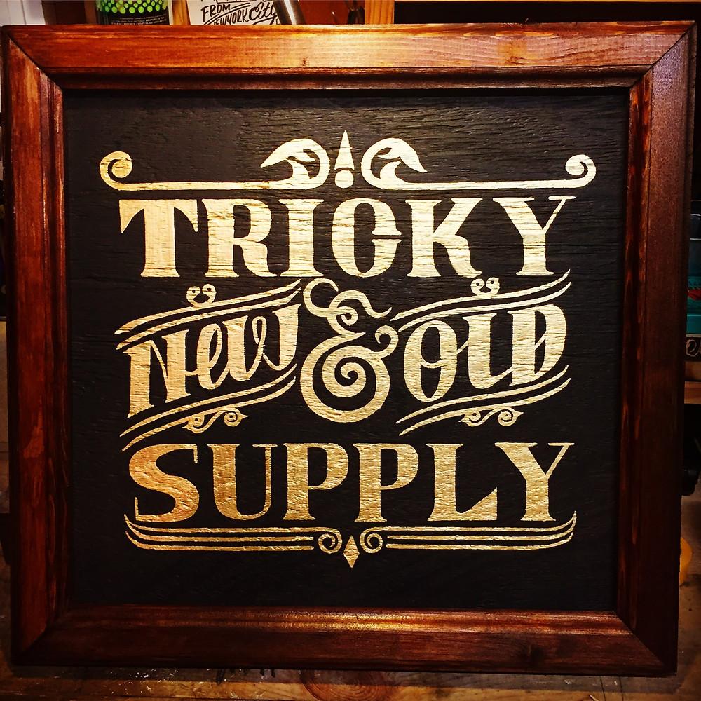trick supplyのサインペインティング