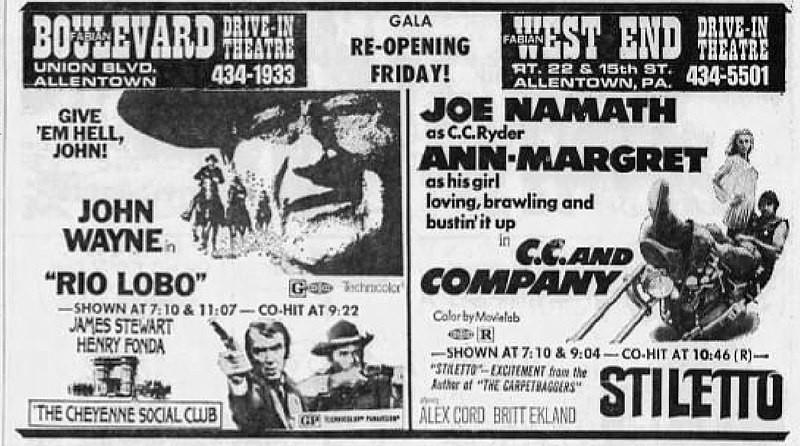 1971年のドライブインシアターのポスター