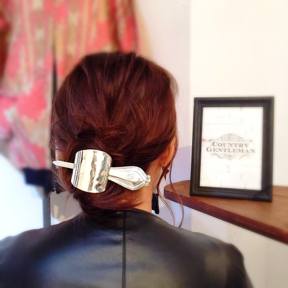 ティファニー スプーンの髪飾り