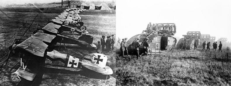 第一次世界大戦の戦闘機と戦車