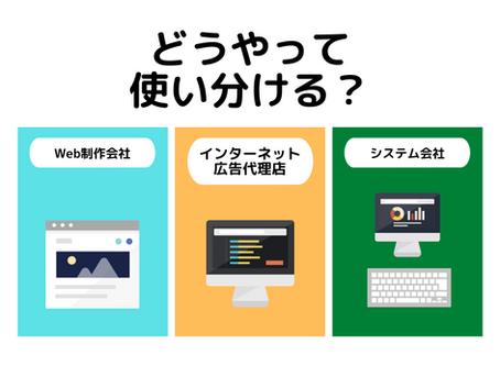 Web制作会社、システム会社、インターネット広告代理店の使い分け方【福島の企業向け】