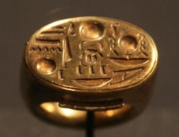 古代エジプトで制作された金のメンズリング