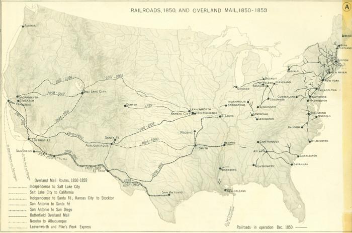 1960年代の鉄道の地図