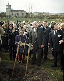 リトアニアでの植樹式