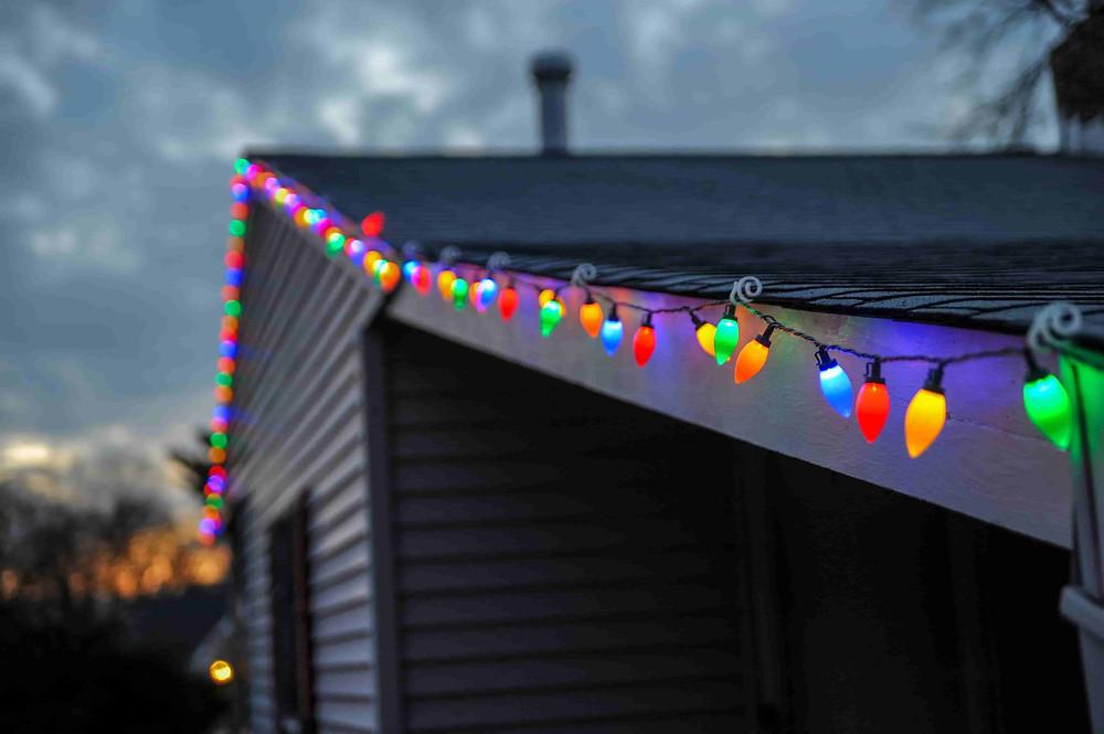 クリスマス用のストリングライト