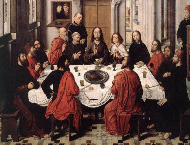 テーブルにひかれた大きなテーブルクロスで手や口を拭いていたという