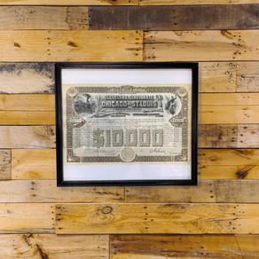 新商品のご紹介:ヴィンテージアート<Cleveland,Cincinati,Chicago and St.Louis Railway Company>