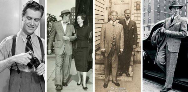 1940年代の男性はカッチリとしたスーツと様々な小物を駆使してファッションを謳歌していた