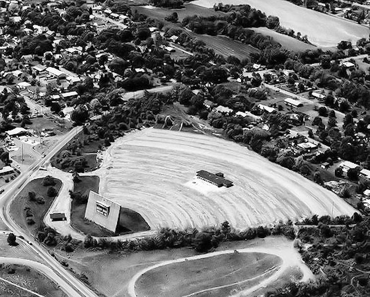 1967年のドライブインシアターの俯瞰図