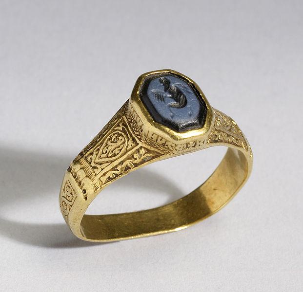 東ローマ帝国時代の金のリング