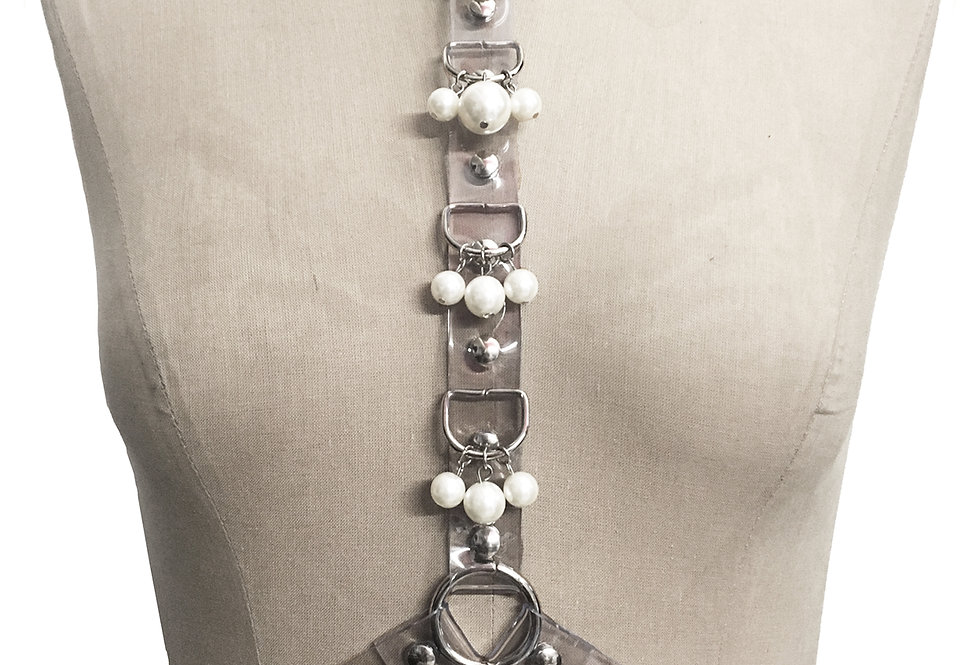 PEARL HARNESS - PVC Transparent
