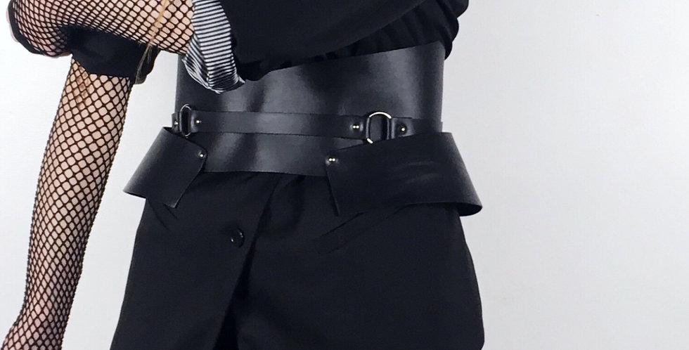 AURA belt - Cuir noir