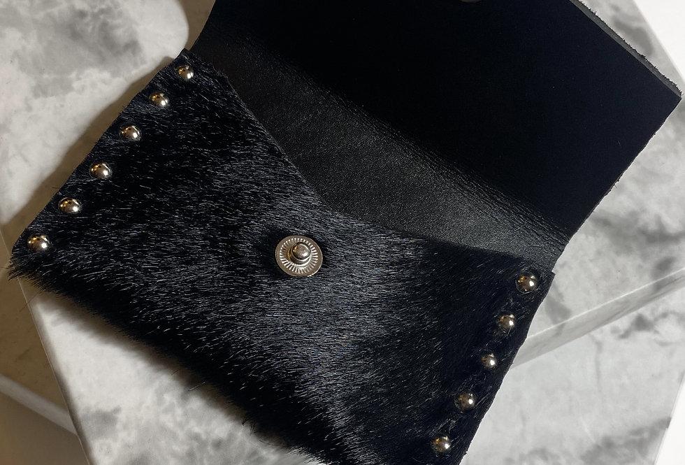 KARL - Porte carte en cuir effet Pony